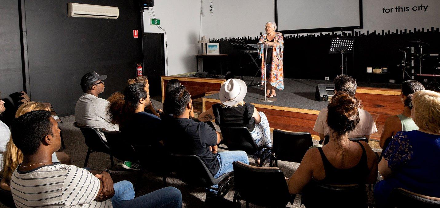 crowd view - community meeting