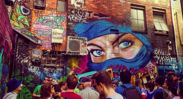 Group in Melbourne Alley