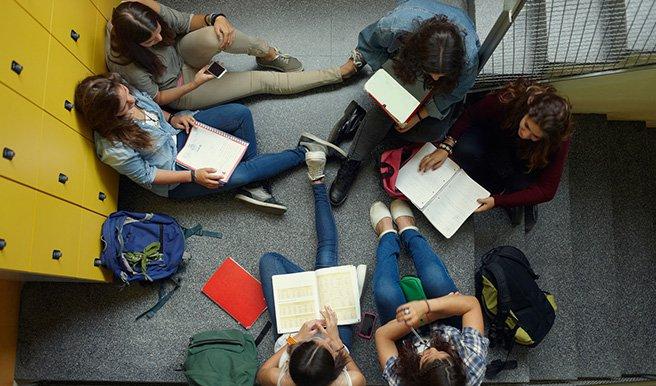 teenagers study group