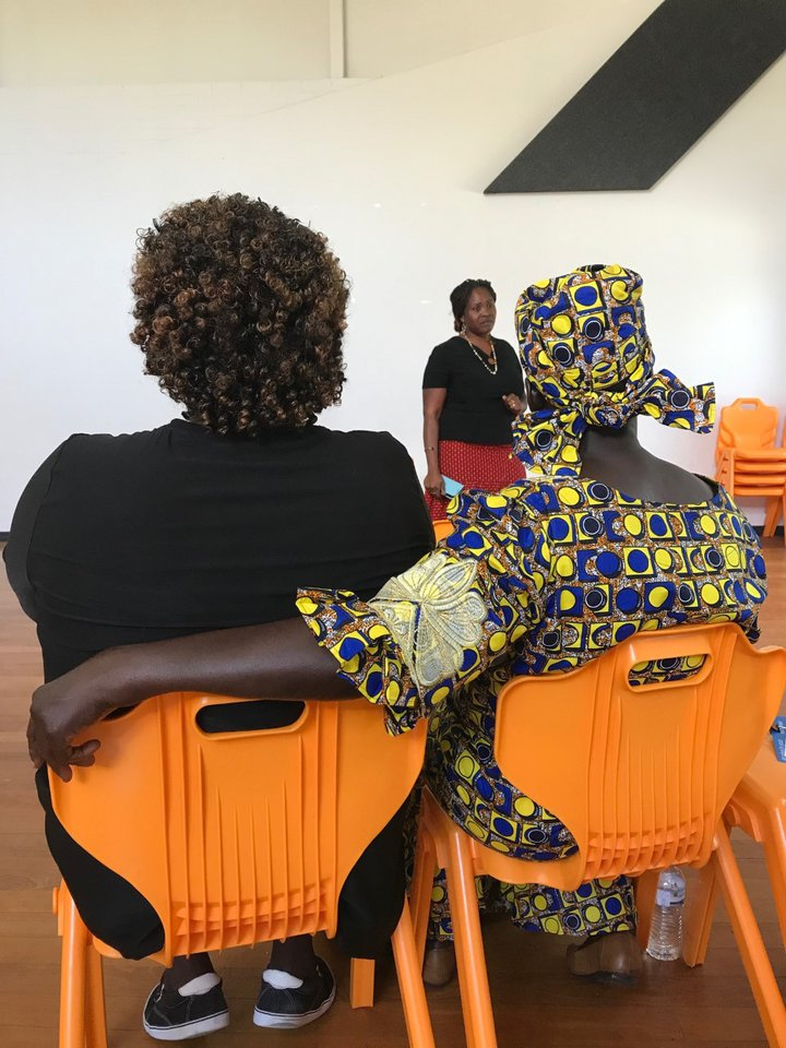 workshop seated Brisbane Sudanese South Sudanese CALD Community Action for a Healthy Society LDAT